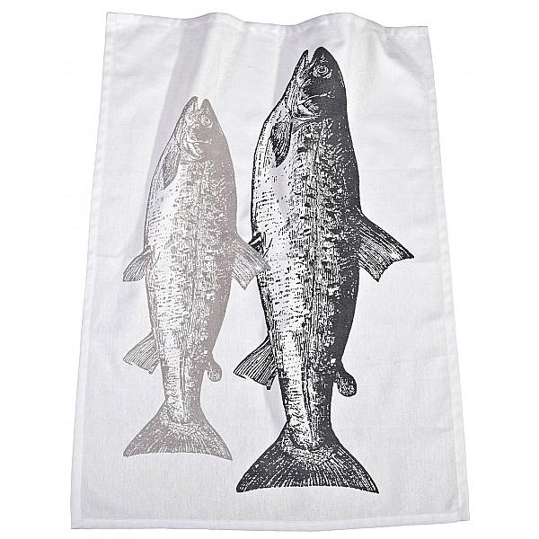 Kökshandduk Fisk - Grå