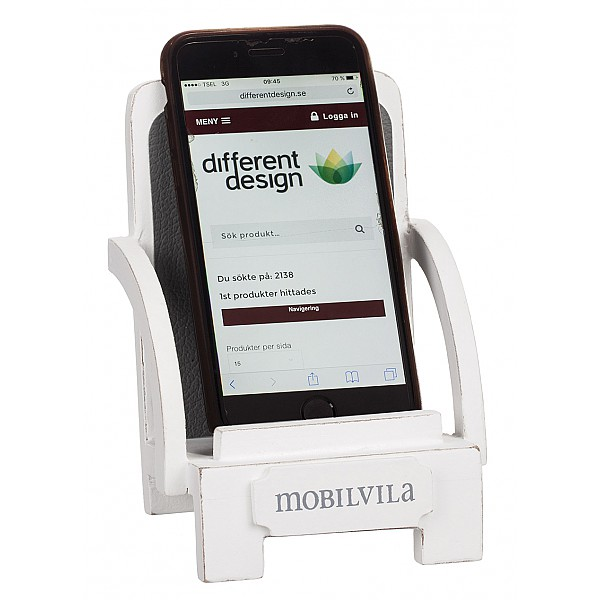 Wooden Deck Chair Mobilvila - White