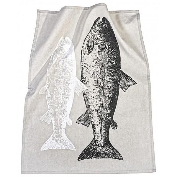 Kökshandduk Fisk - Svart