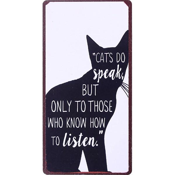 Magnet/Kylskåpsmagnet Cats do speak