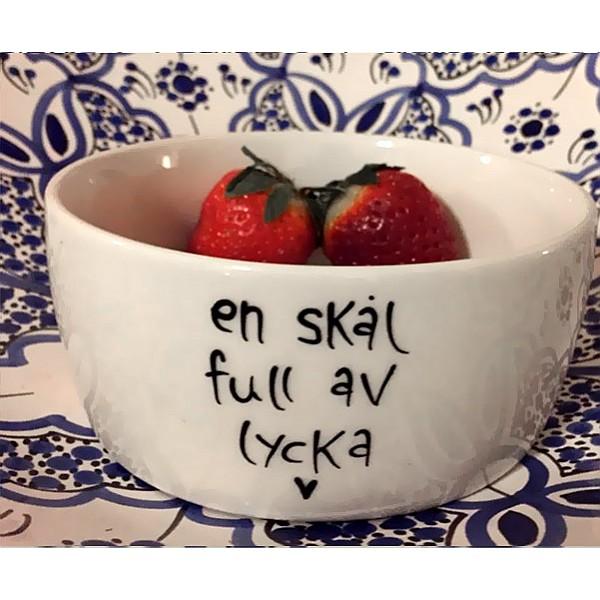 Skål En skål full av lycka