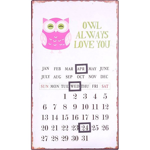 Kalender/Almanacka - Owl always love you