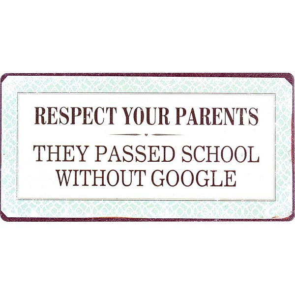 Magnet/Kylskåpsmagnet Respect your parents