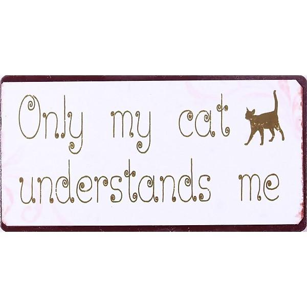 Magnet/Kylskåpsmagnet Only my cat understands me