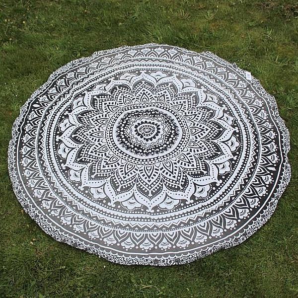 Beach Blanket / Picnic Blanket - Grey