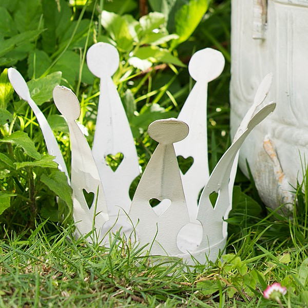 Candle Holder EVERYDAY Crown Small - White