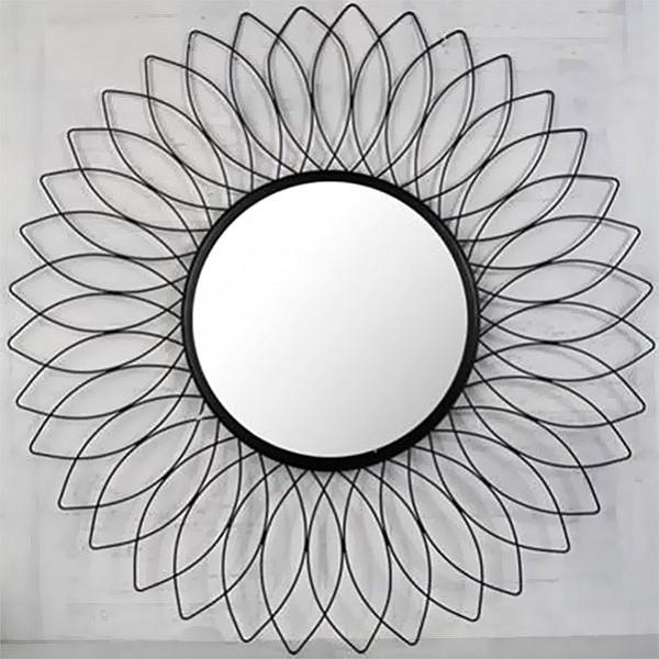 Spegel Sol - Svart