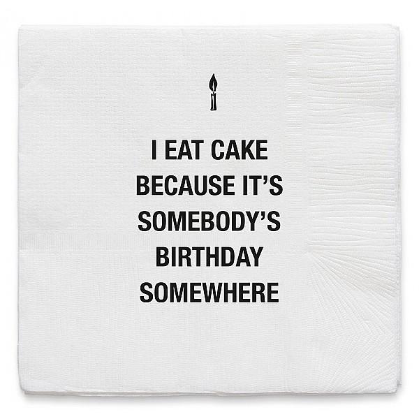Servetter I Eat Cake