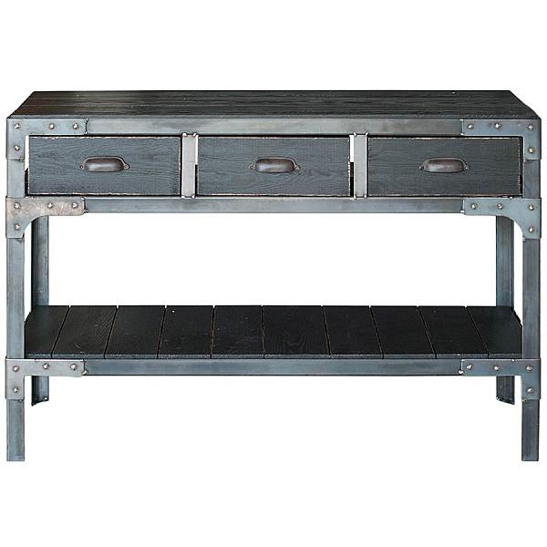Skänk/Sidebord Factory 3 lådor - Svart