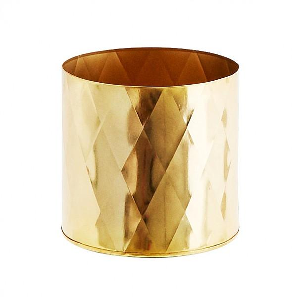 Kruka Harlekin Guld - 15 x 14 cm