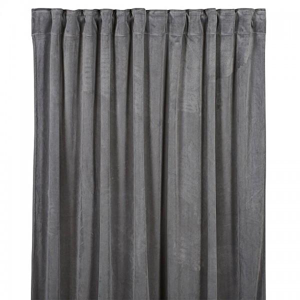 Curtains Velvet - Light Grey