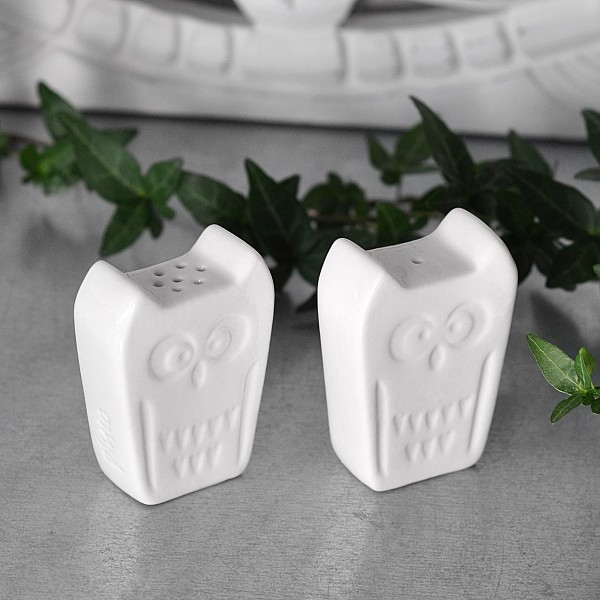 Salt & pepper shakers Owl - White