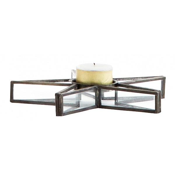 Kerzenhalter Stern für T-Light - Schwarz