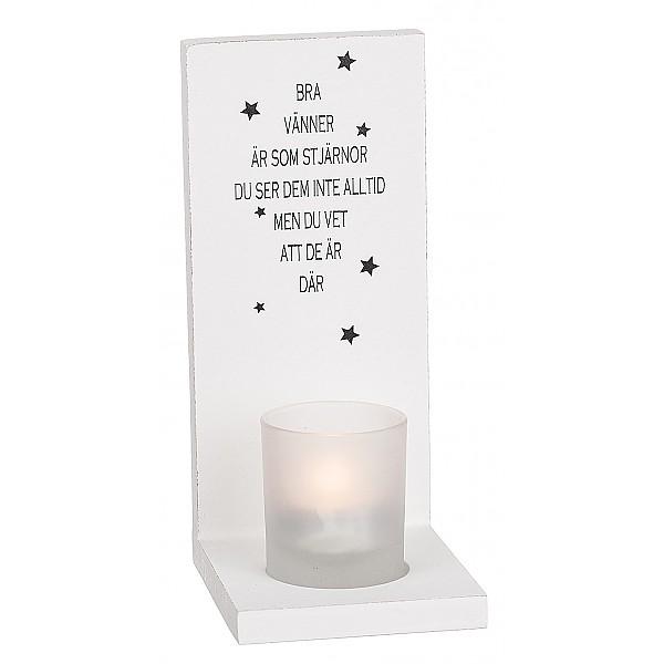 Ljuslykta för vägg Bra vänner är som stjärnor