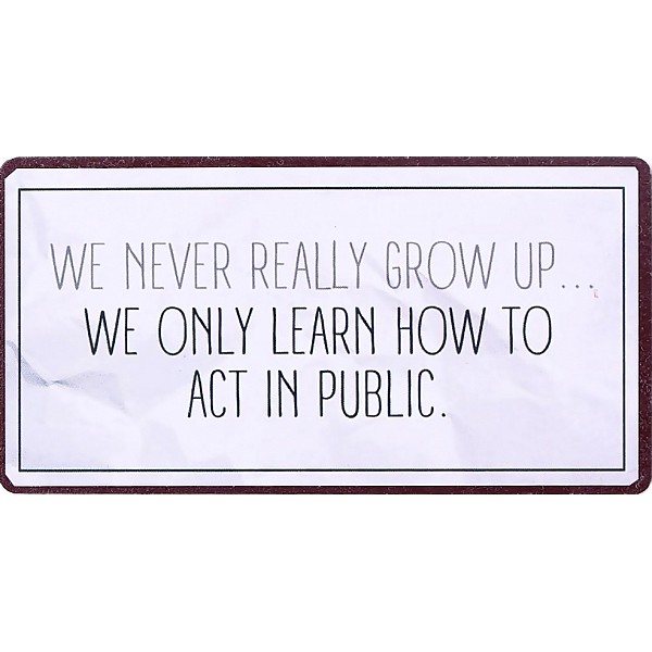 Magnet We never really grow up