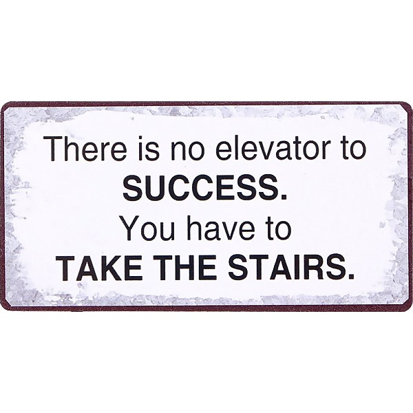 Magnet There is no elevator to success