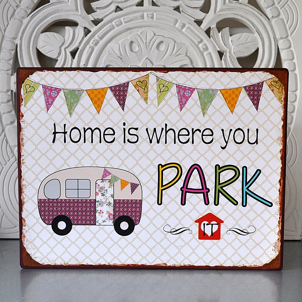 In Tin Sign Home parken Sie