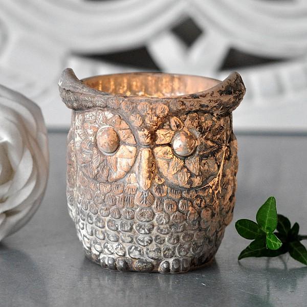 Ljuskopp Owl - 7 x 7 cm