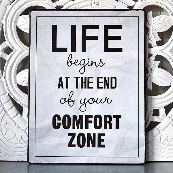 Blechschild Comfort Zone