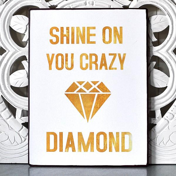 Blechschild Scheine auf deinen verrückten Diamanten