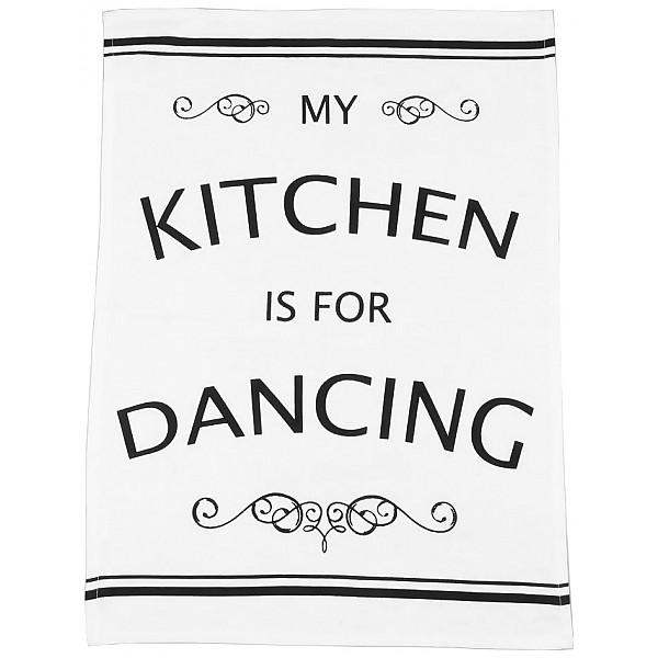 Geschirrtuch Meine Küche ist zum Tanzen