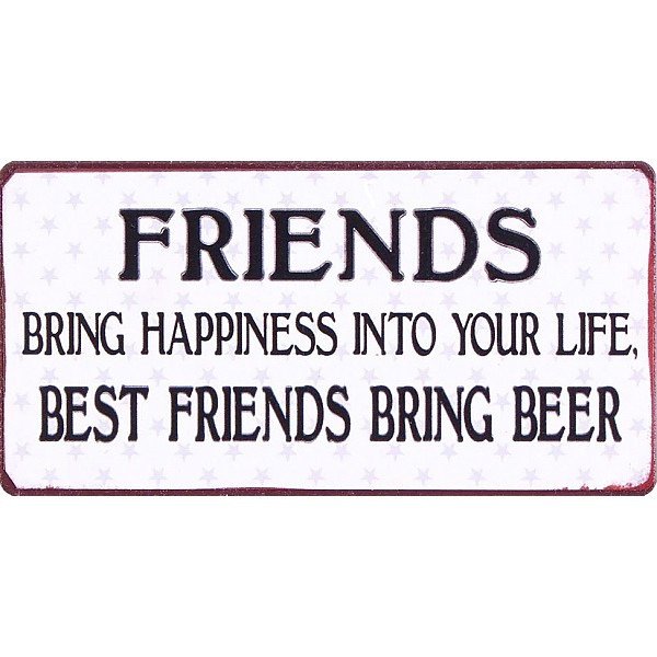 Magnet/Kylskåpsmagnet Best friends bring beer