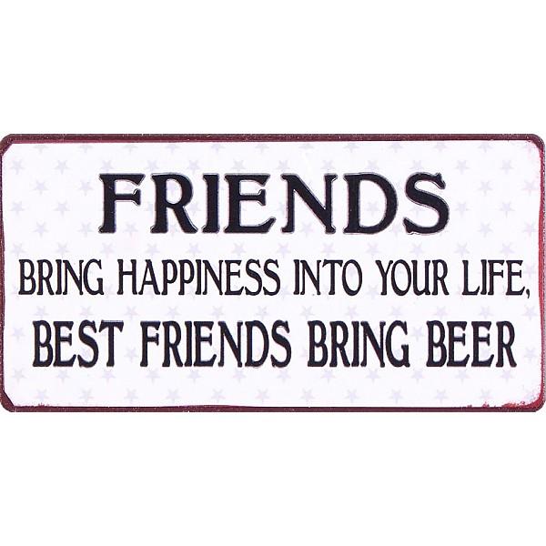 Magnet Best friends bring beer