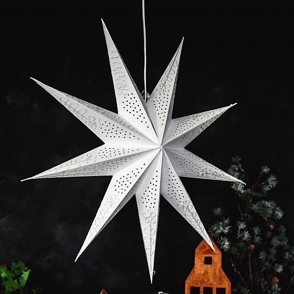 Majas Julstjärna Crochet - Vit