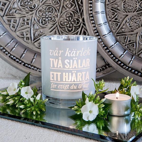Majas Ljuslykta Vår kärlek - Vit