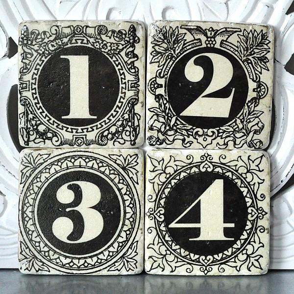 Untersetzer 1,2,3,4
