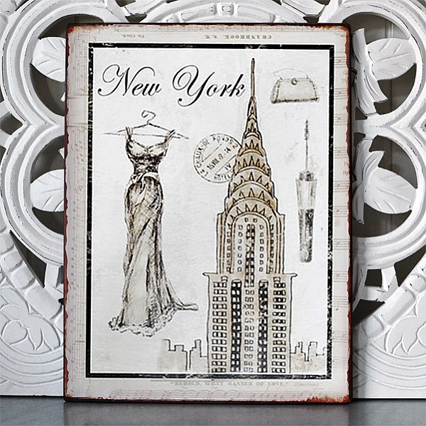 Blechschild New York