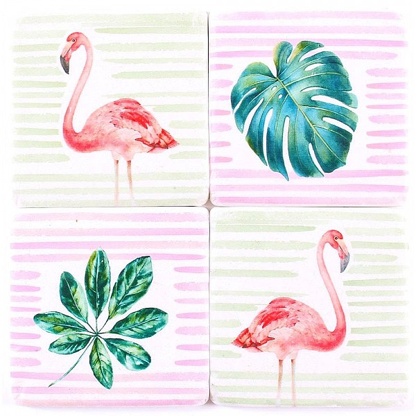 Coasters Flamingo