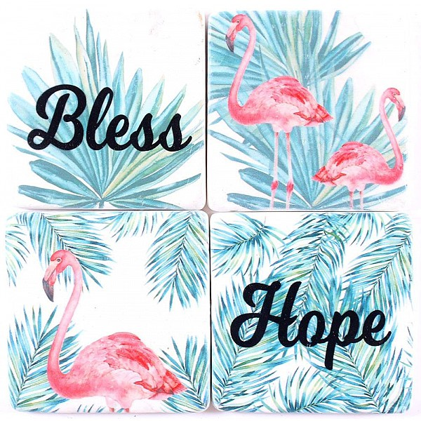 Coasters Flamingos Bless Hope