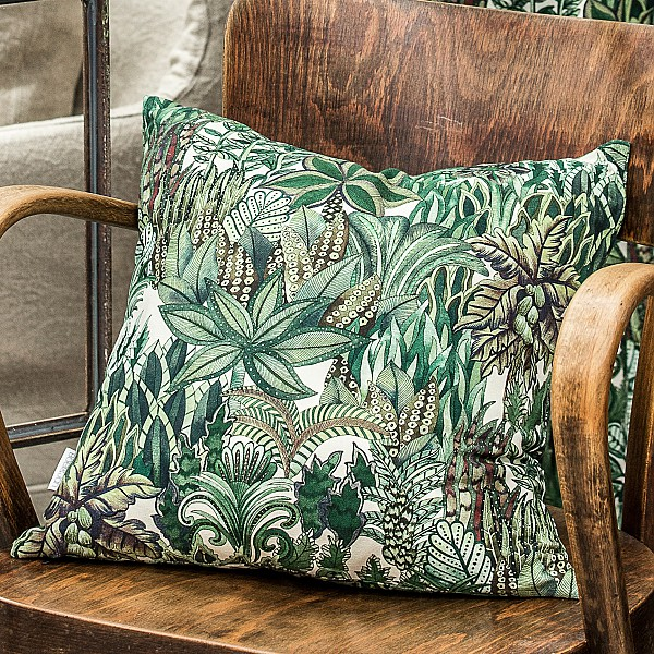 Cushion Cover Foliage - Green