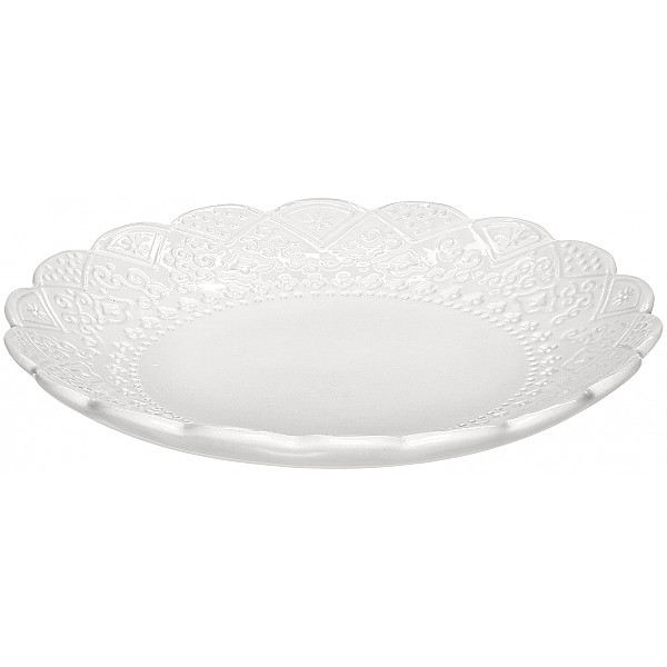 Side Plate Orient - White