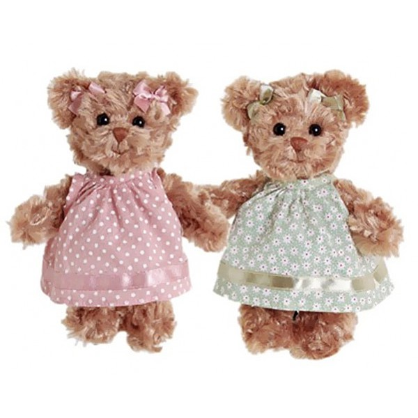 Teddy Bear Little Hedvig - Rosa gepunktetes Kleid