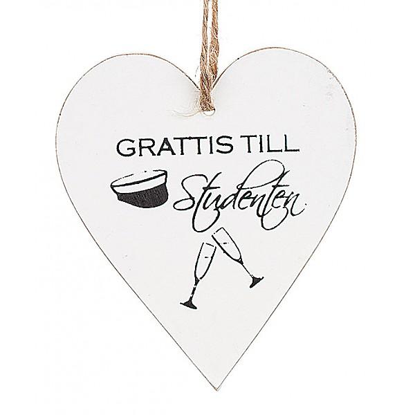 Hjärta Grattis till Studenten - Champagneglas