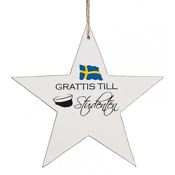 Star Grattis till Studenten - Flag