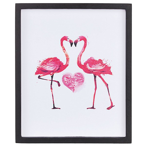 Picture Flamingos with heart