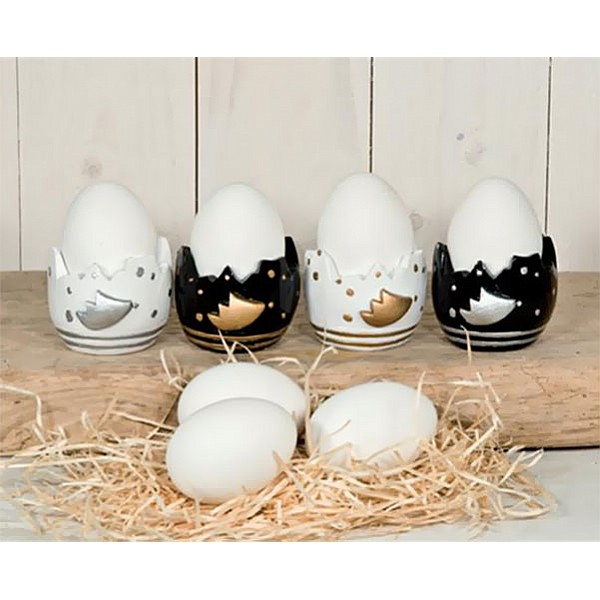 Egg Cup Täppas - Black / Silver
