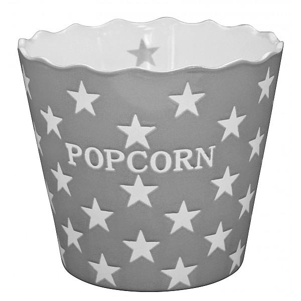 Popcornskål/Skål Popcorn Star - Ljusgrå