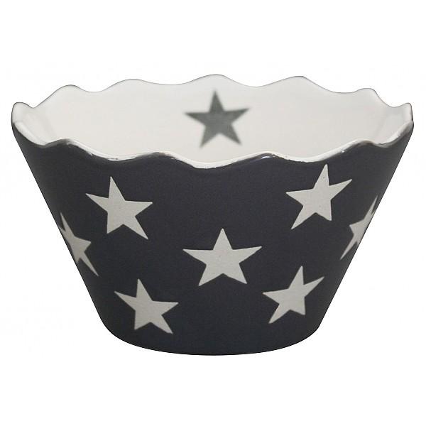 Skål Happy Bowl Stars Micro - Mörkgrå (Charcoal)