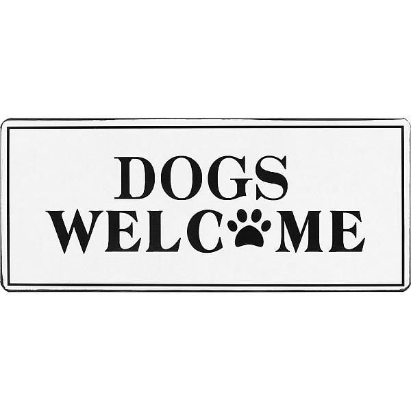 Plåtskylt Dogs welcome