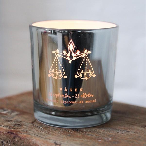 Majas Candle Holder Zodiac Sign Silver - Vågen