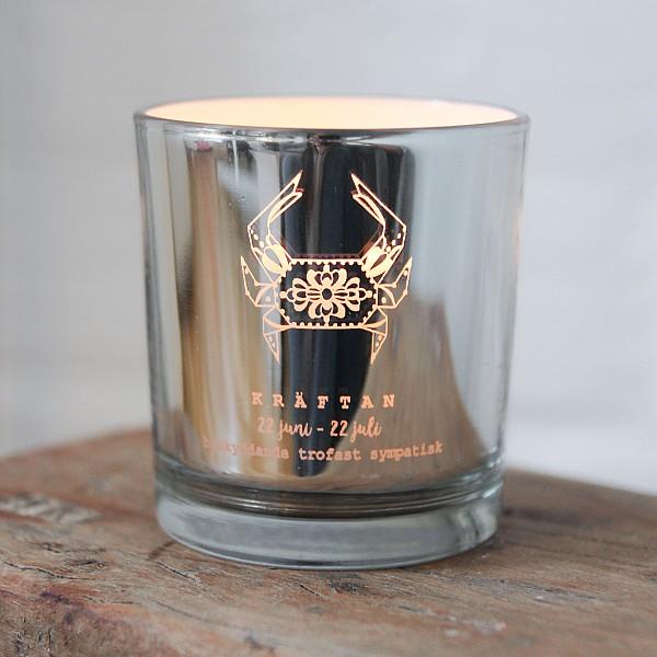 Majas Candle Holder Zodiac Sign Silver - Kräftan