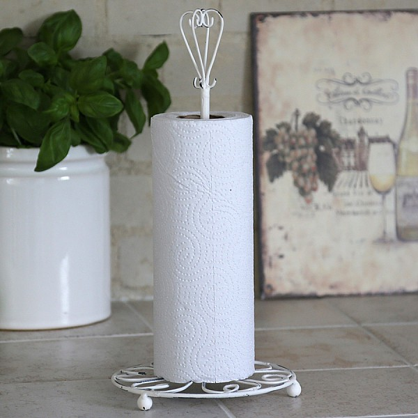 Kitchen Roll Holder Fil de fer - Antique White