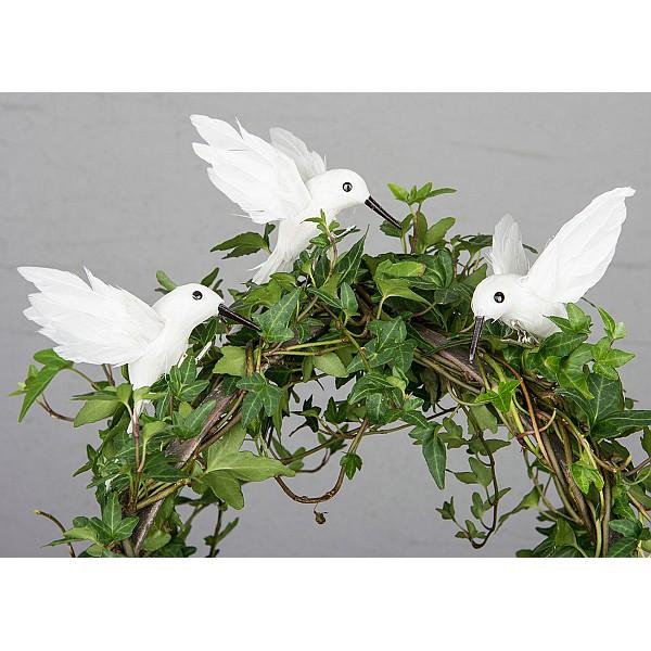 Kolibri med clips - Vit