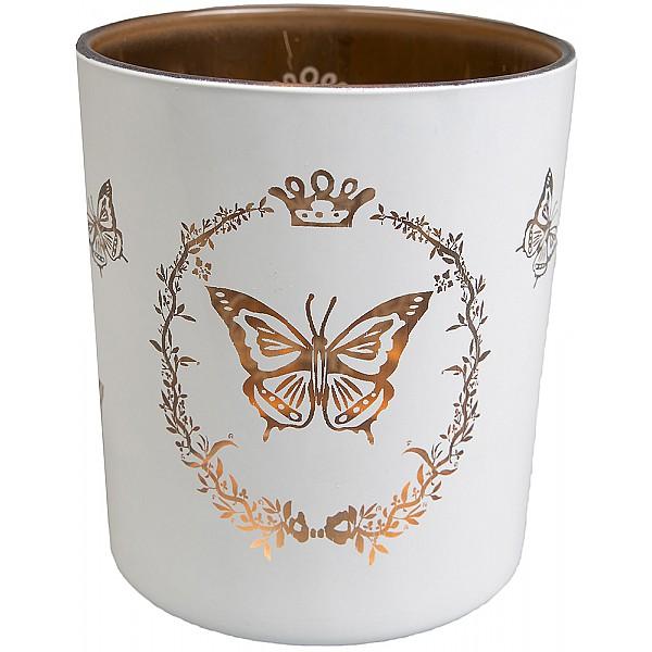 Kerzenhalter Butterfly Motiv White - Large