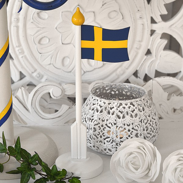 Wooden Table Flag Sweden - Small