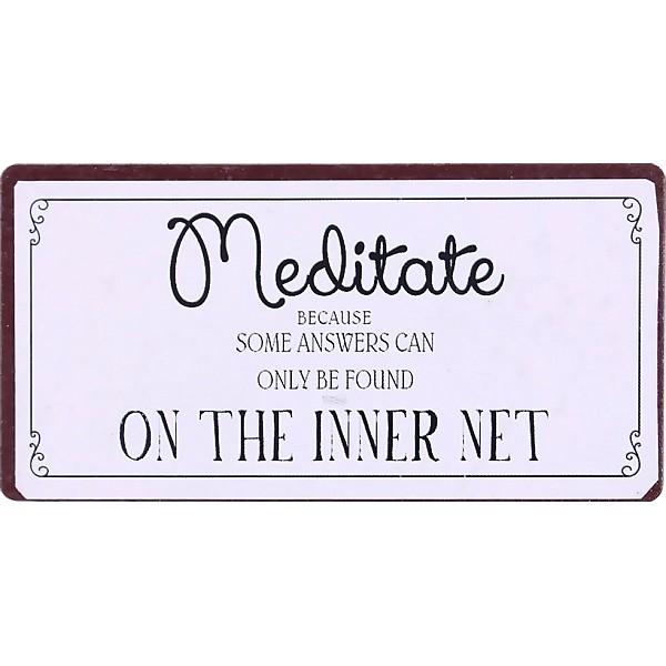 Magnet/Kylskåpsmagnet Meditate
